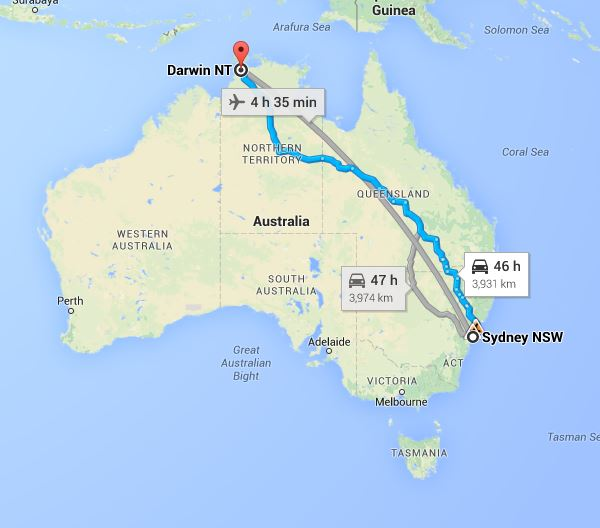 Sydney To Darwin Removalists Interstate Removals