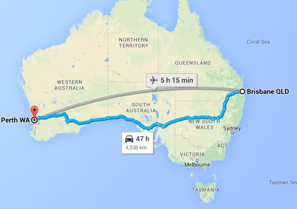 Image of Brisbane to Perth Removalists