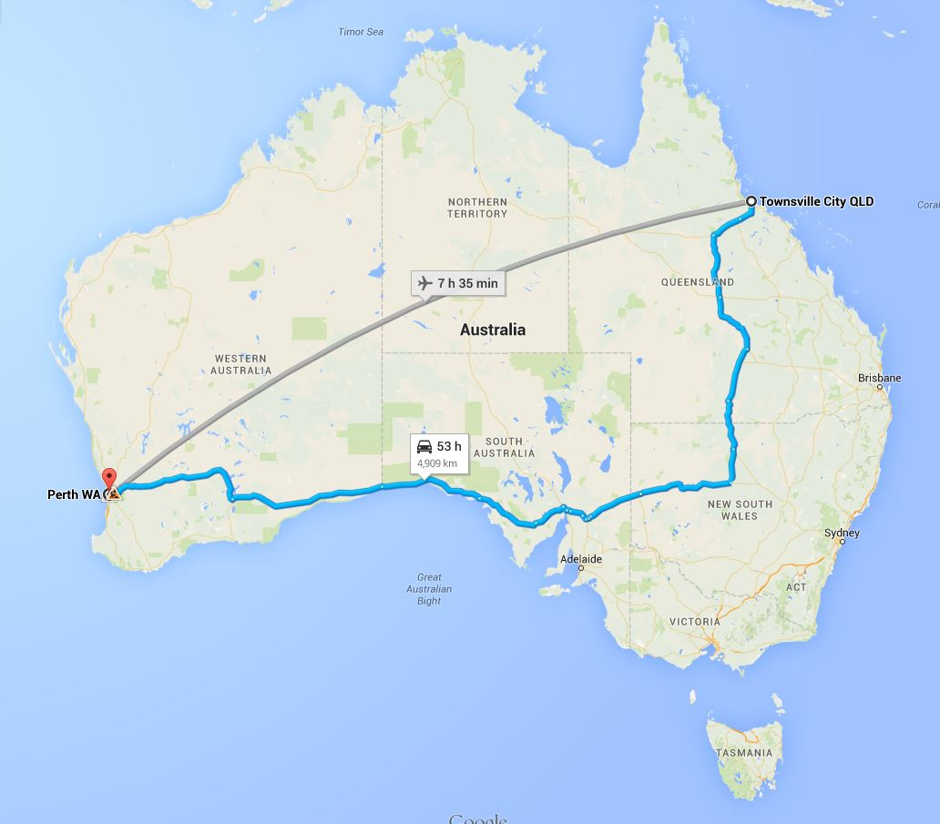 Townsville To Perth Removalists Interstate Removals