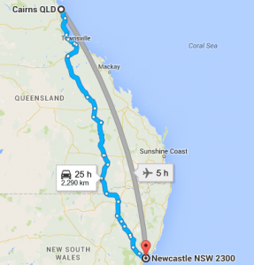 cairns to newcastle removalists