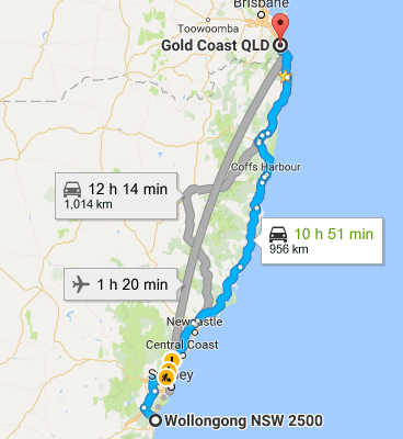 Wollongong To Gold Coast Removalists Interstate Removals