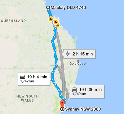 Mackay To Sydney Removalists Interstate Removals