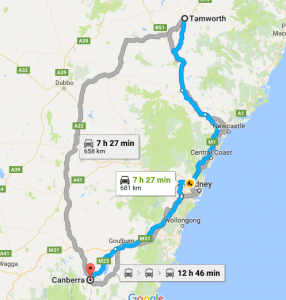 Tamworth To Canberra Removalists Interstate Removals