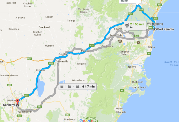 Port Kembla To Canberra Removalists Interstate Removals