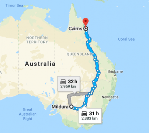 Mildura-to-Cairns